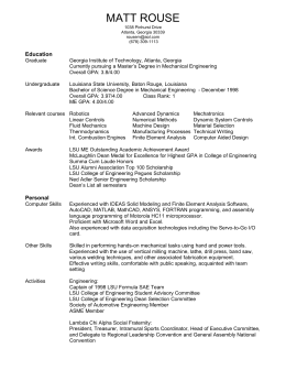 resume - Intelligent Machine Dynamics Lab (IMDL)