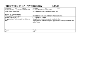THIS WEEK IN PSYCHOLOGY