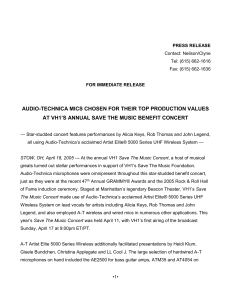 press release - Audio