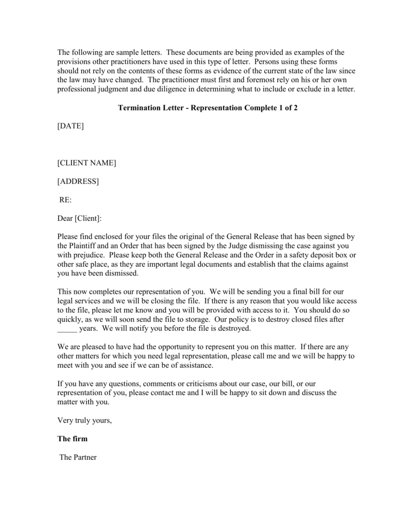 Client Termination Letter Template from s3.studylib.net
