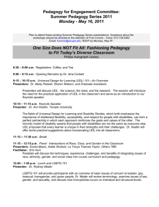 Pedagogy for Engagement Committee: Summer Pedagogy Series