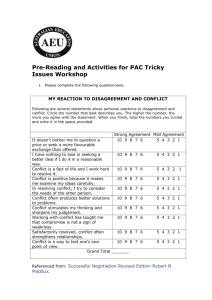 Pre-Reading and Activities for PAC Tricky Issues Workshop