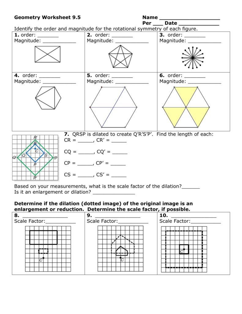 Geometry Worksheet 9
