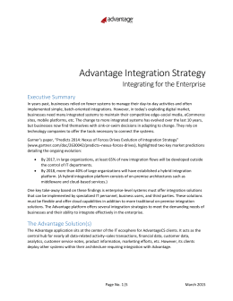 Advantage Integration Strategy