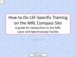 How to Grade Equipment-Specific Training on the MRL Compass Site