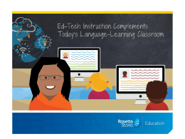 Ed-Tech Instruction Complements Today's