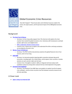 Global Economic Crisis Resources