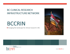 Changing the landscape for clinical research in BC.