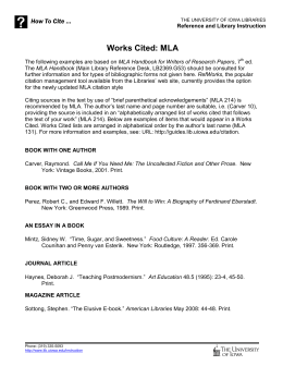Mla Style In Text Citation