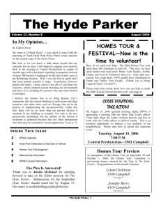 The Hyde Parker - Hyde Park Neighborhood Association