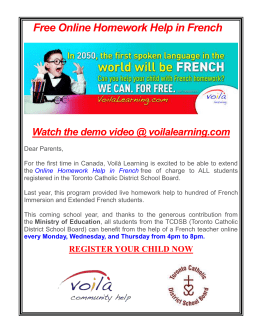 Free Online Homework Help in French