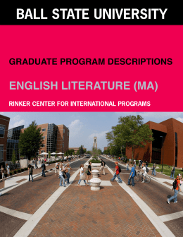 English - Literature - Ball State University