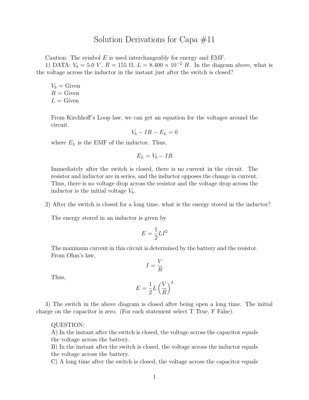 Solution derivations for capa 11 robcynllc Images