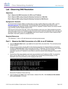 Lab - Observing DNS Resolution