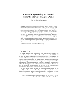 Risk and Responsibility in Chemical Research: The Case of