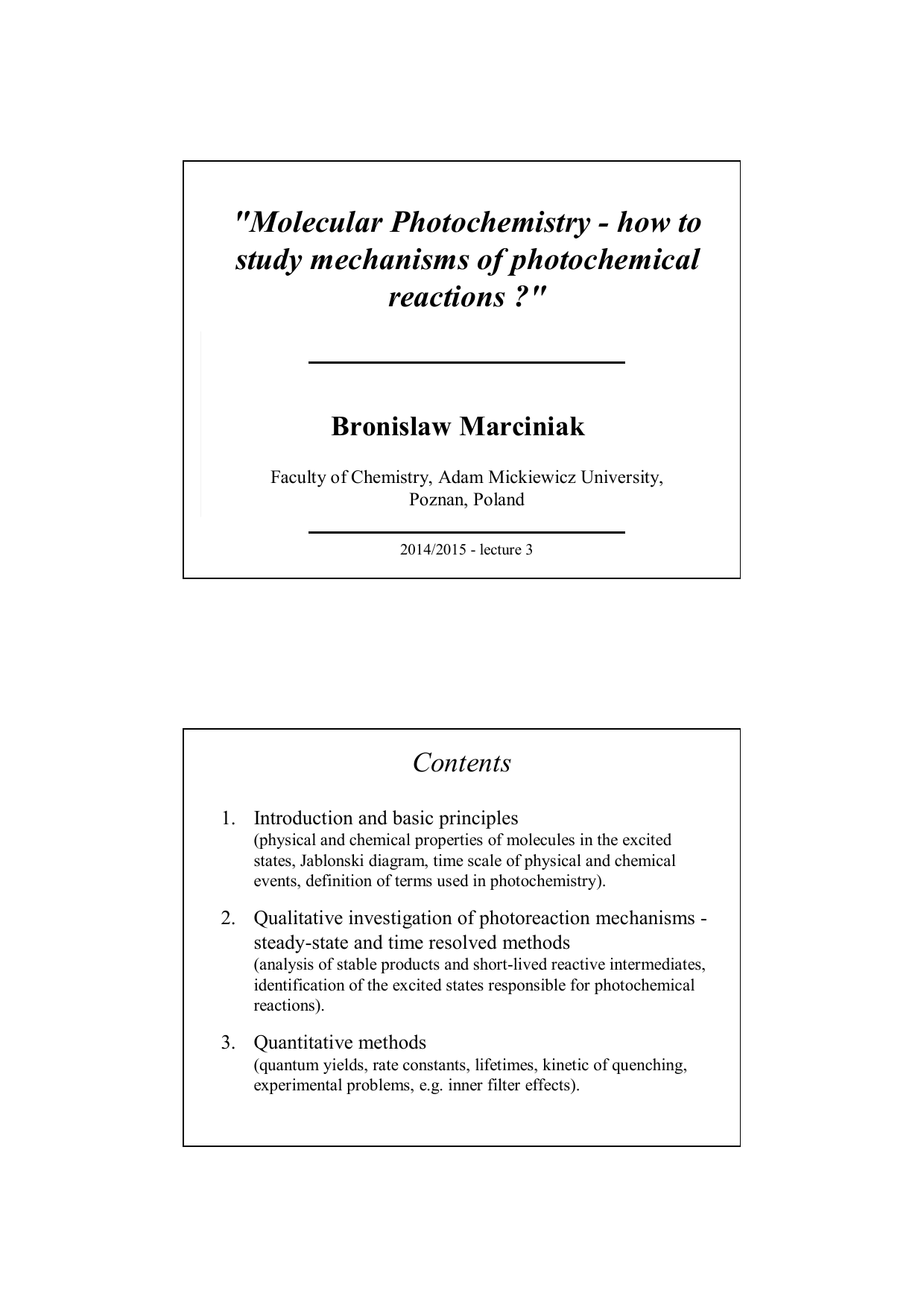 Molecular photochemistry how to study mechanisms of molecular photochemistry how to study mechanisms of ccuart Gallery