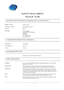 safety data sheet oxalic acid