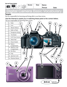 Digital Camera Basic Vocabulary.W2014.S.Form