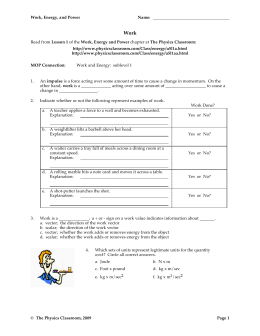 Conservation Of Energy On A Coaster Worksheet