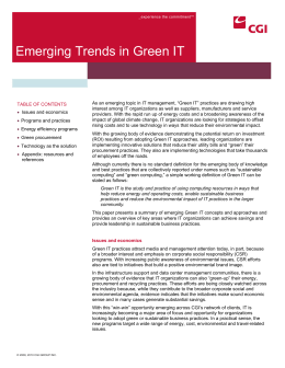 Emerging Trends in Green IT