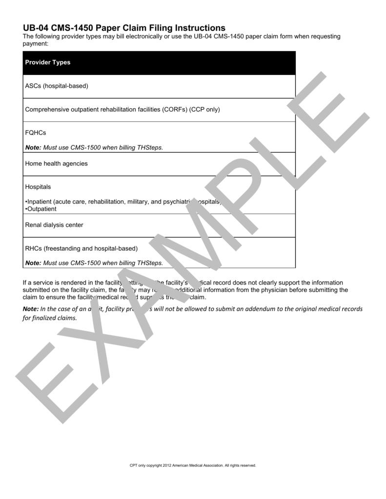 Super Ub 04 Cms 1450 Paper Claim Filing Instructions Download Free Architecture Designs Itiscsunscenecom