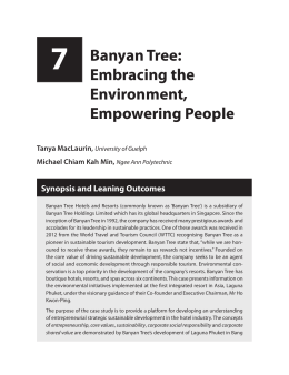 7 Banyan Tree: Embracing the Environment