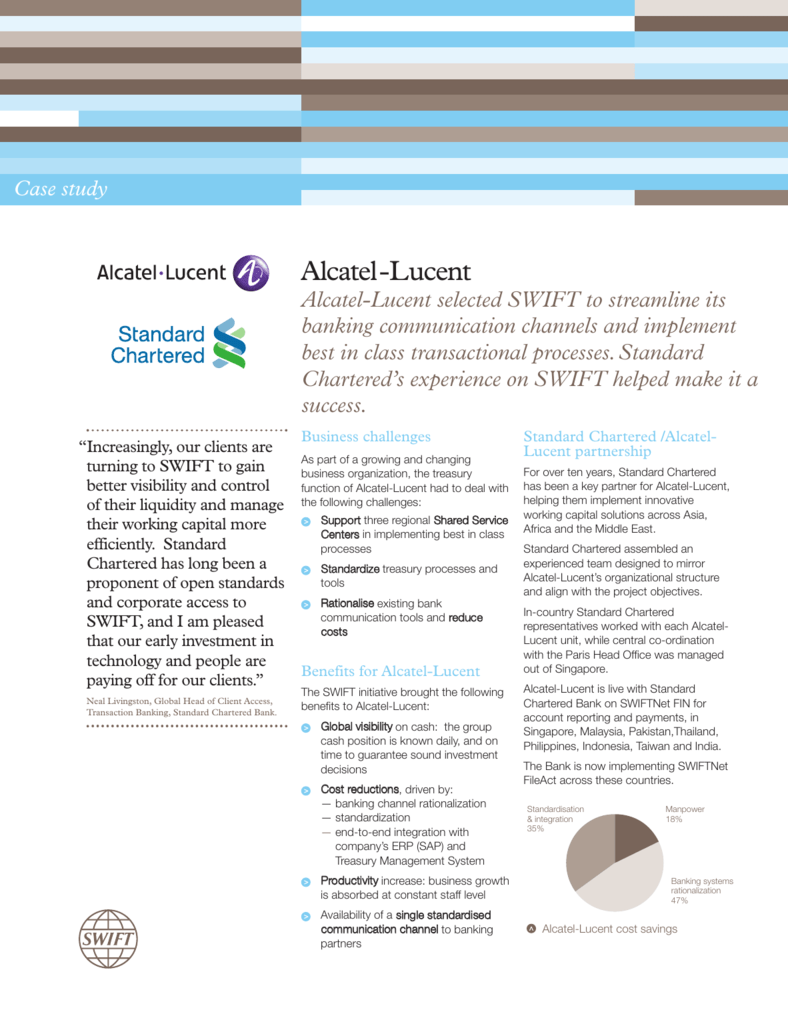 Alcatel-Lucent, Standard Chartered