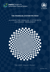 Aligning the Financial System with Sustainable Development