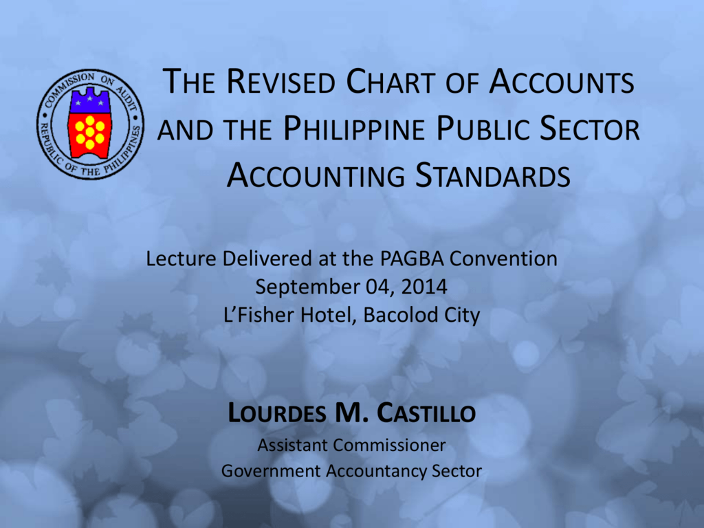 The Revised Chart Of Accounts And The Philippine Public Sector
