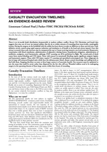 Casualty Evacuation Timelines: An Evidence-Based Review