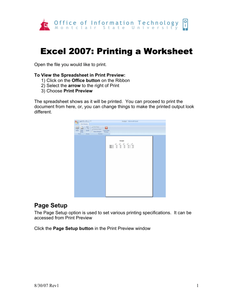 how to print excel sheet with lines 2007