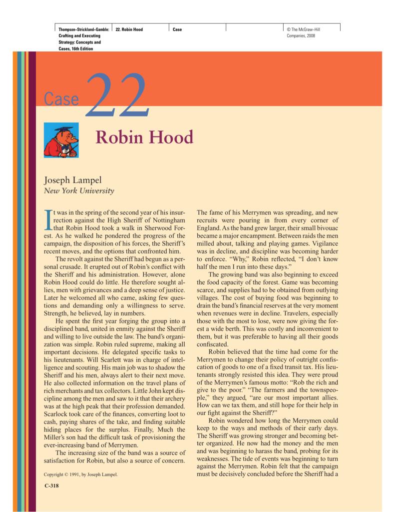 robin hood case