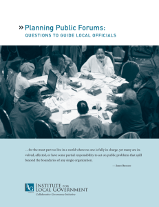 Planning Public Forums - Institute for Local Government
