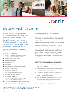 Executive Health Assessment