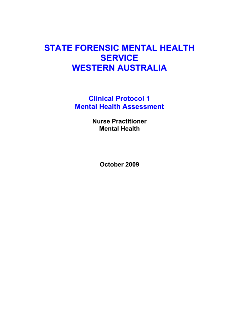 Mental Health Assessment Nursing And Midwifery In Western