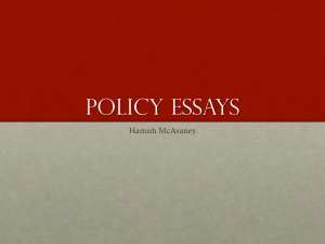 policy essays - Monash Law Students' Society