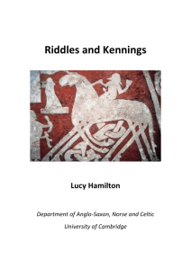Riddles and Kennings - Department of Anglo