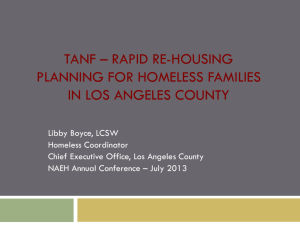 rapid re-housing planning for homeless families in los angeles county
