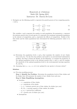 Homework # 4 Solutions Math 232, Spring 2012 Instructor: Dr