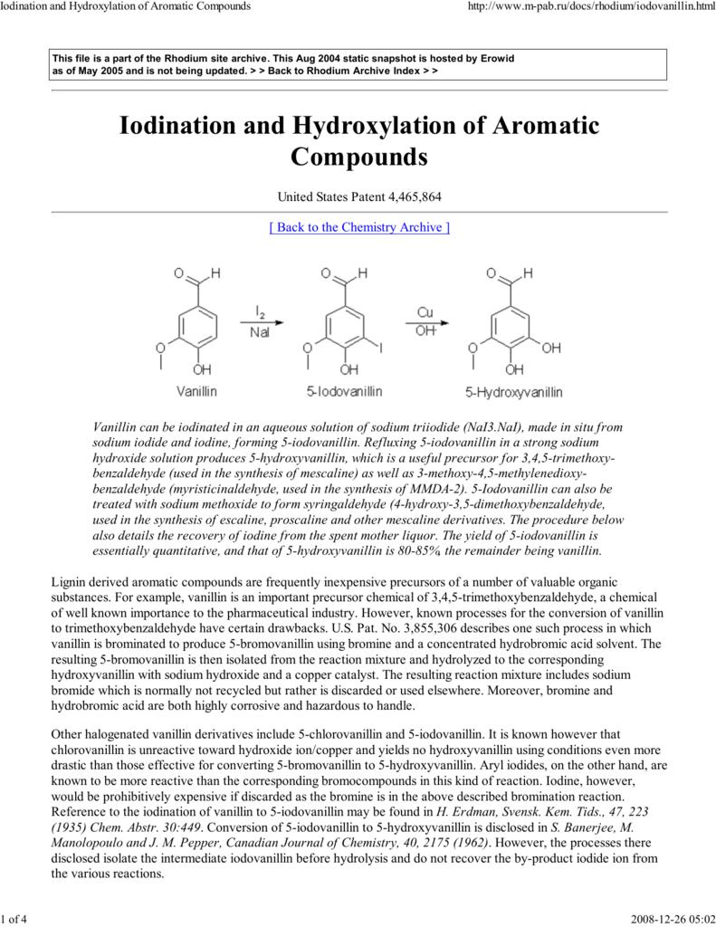Iodination and Hydroxylation of Aromatic C