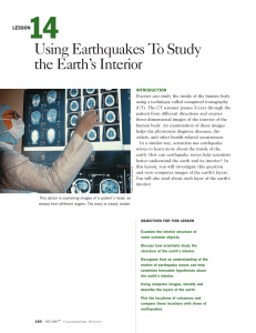 Lesson 14: Using Earthquakes to Study the