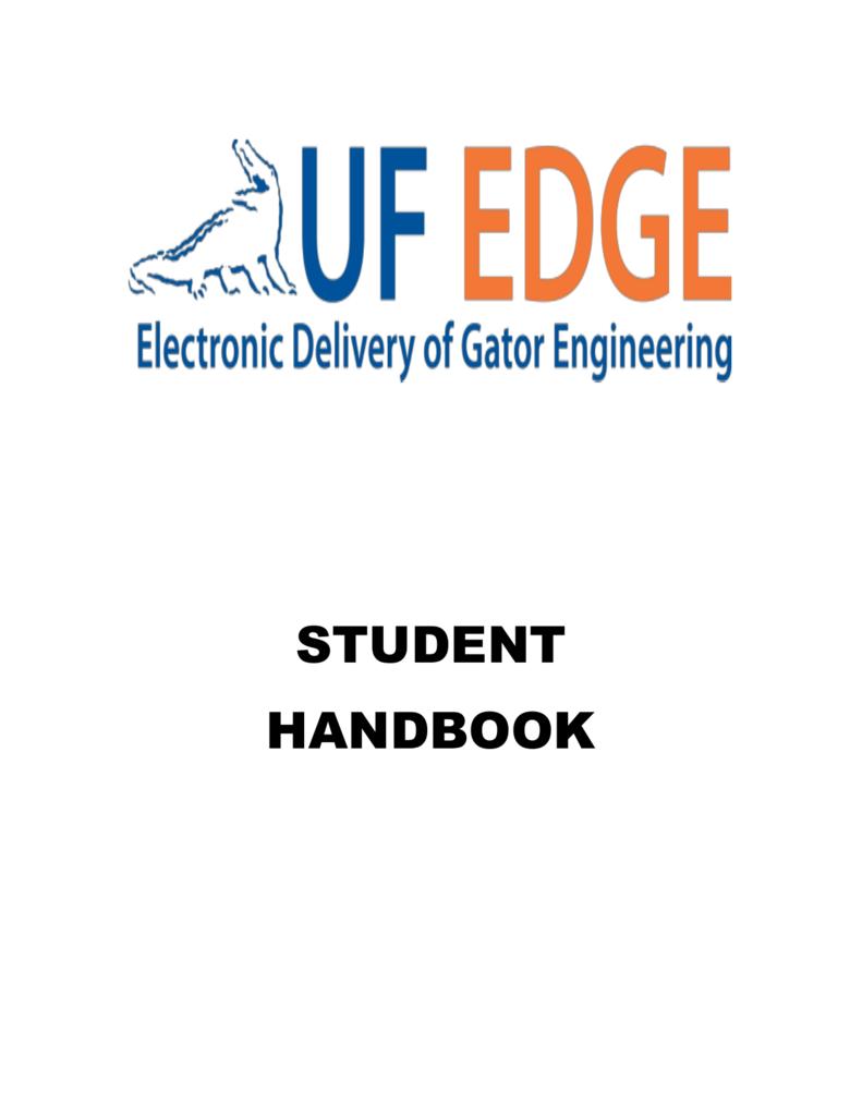 student handbook - UF EDGE