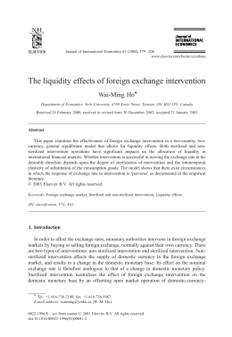The liquidity effects of foreign exchange intervention