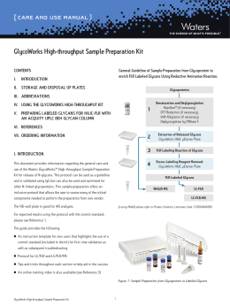 [ CARE AND USE MANUAL ] GlycoWorks High-throughput