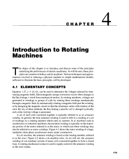 Introduction to Rotating Machines