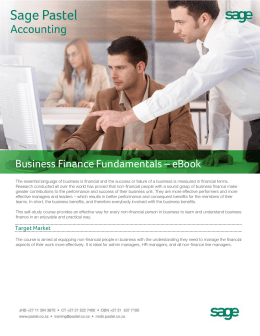 Business Finance Fundamentals – eBook