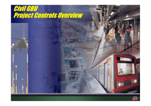 Civil GBU Project Controls Overview