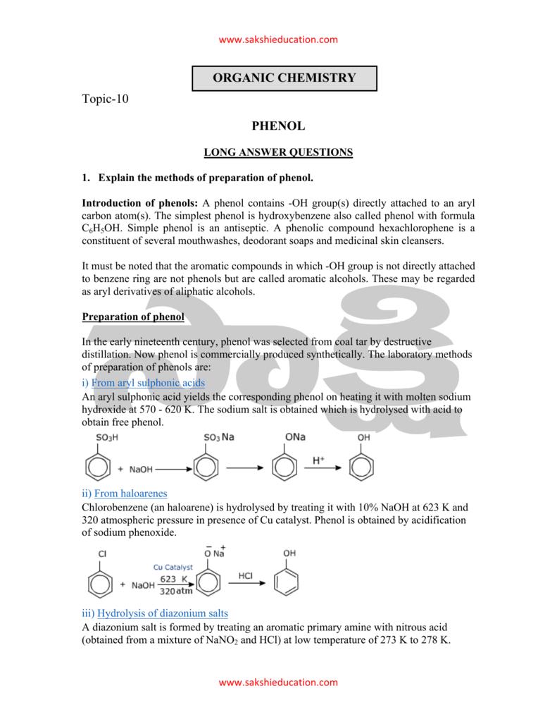 Topic-10 PHENOL ORGANIC CHEMISTRY