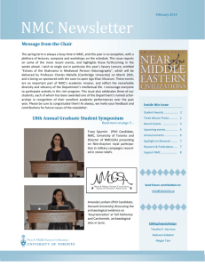 NMC Newsletter - Department of Near and Middle Eastern