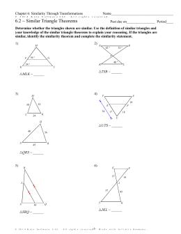 7 3 Proving Triangles Similar